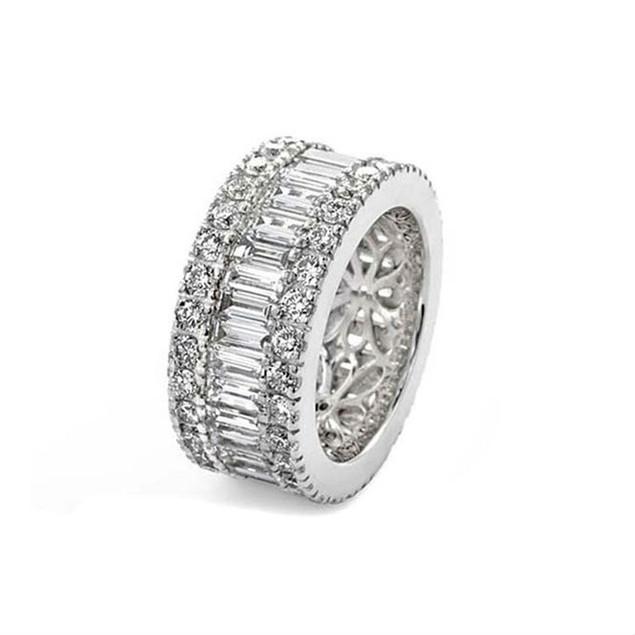 Cubic Zirconia Eternity Ring