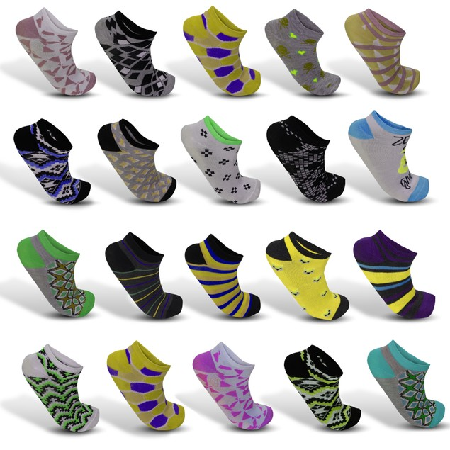 18- Pairs Mystery Deal: Women's Colorful Patterned Fashion Ankle Socks