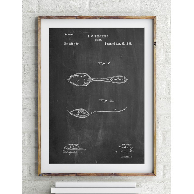 Training Spoon Patent Poster