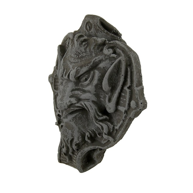 Horned Gothic Creature Decorative Distressed Wall Sculptures