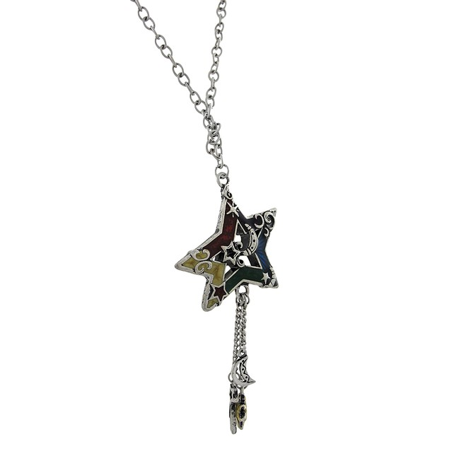 Candy Enamel Accented Celestial Sun, Moon, Star Pendant Necklaces