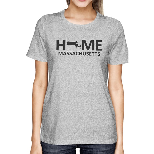 Home MA State Grey Women's T-Shirt