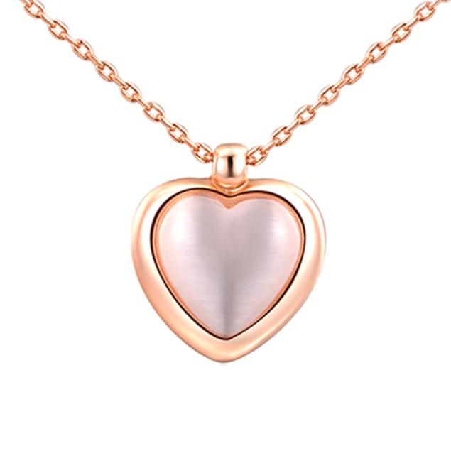 Imitation Pearl Heart Pendant