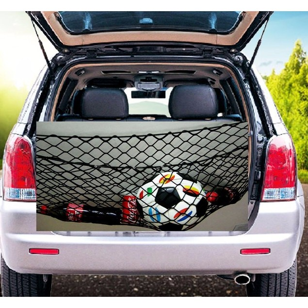 Zone Tech Vehicle Trunk Mesh Cargo Net Storage Organizer Bag