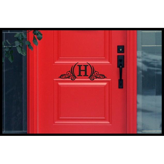 Personalized Initial Door Decal 4