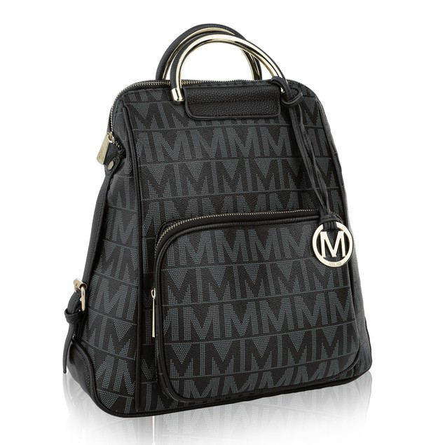 MKF Collection Cora Milan M Signature Trendy Backpack by Mia K. Farrow