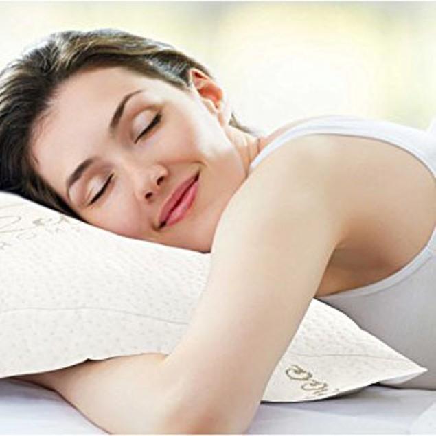 Aloe Vera Bamboo Memory Foam Pillow--Hypoallergenic & Washable