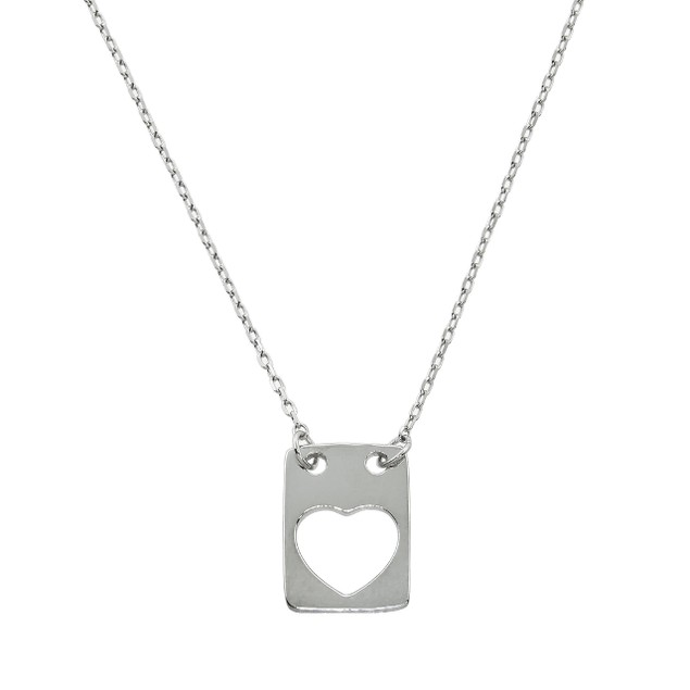 Open Heart Tag Necklace