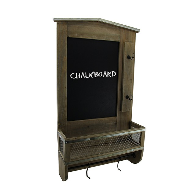 Rustic Wall Mounted Wooden Chalkboard Organization Chalkboards