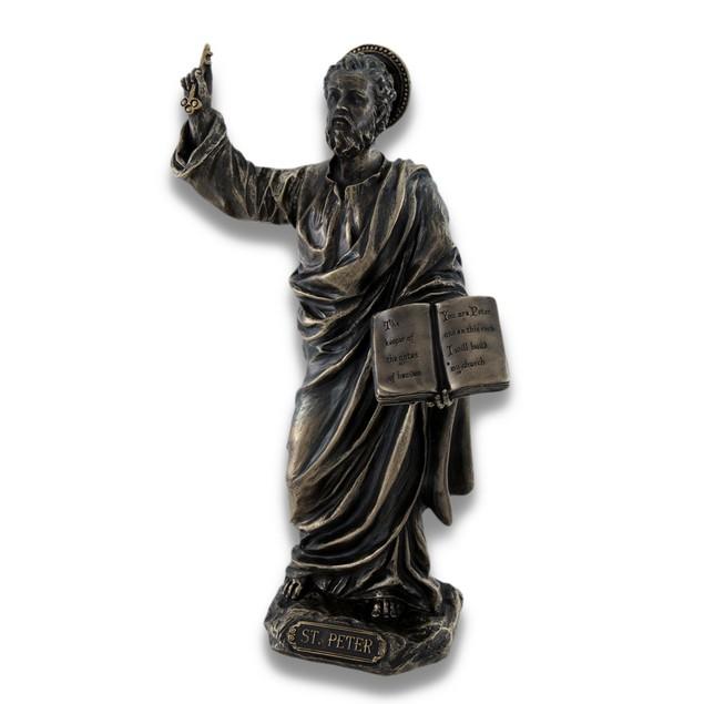Sculpted Saint Peter Bronzed Statue Statues