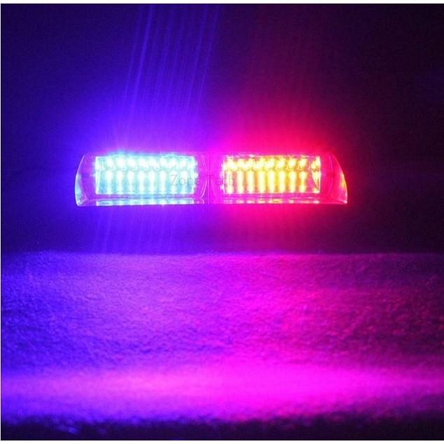 Zone Tech 16 LED Emergency Car Dash Warning Strobe Flash Light Red/Blue