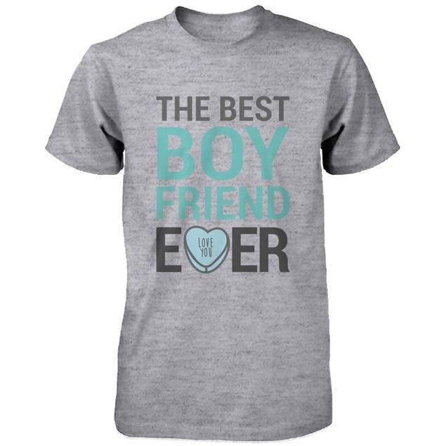 Best Boyfriend Girlfriend Ever Matching Couple Shirts – Grey Cotton T-shirt