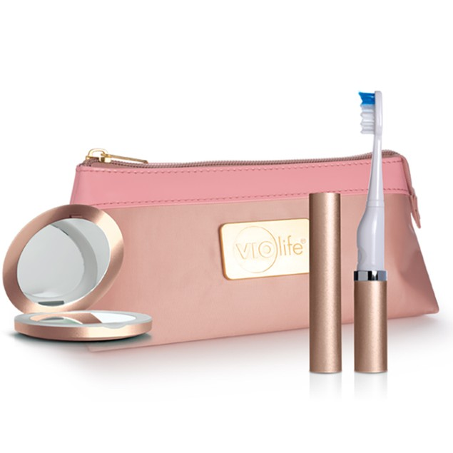 Violife Travel Kit Electric Toothbrush, Magnifying Mirror & Carrying Case