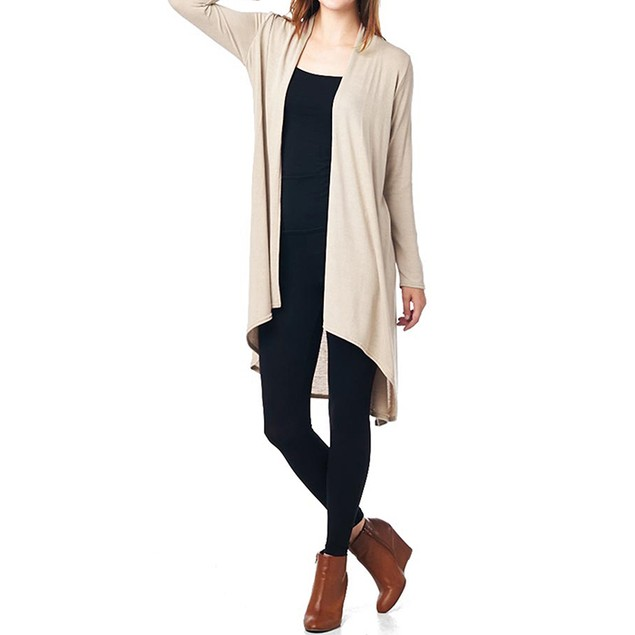 Women's Hacci High Low Long Sleeve Cardigan