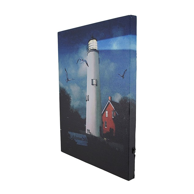 Lighthouse Park Led Lighted Canvas Wall Hanging Prints