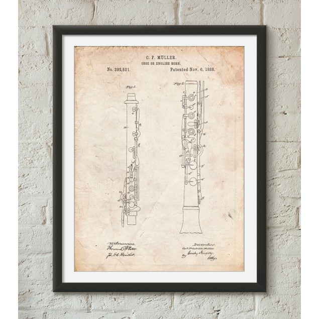 Oboe Patent Poster