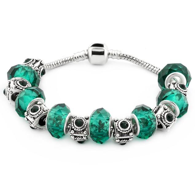 Murano Glass Bead Birthstone Bracelets - 12 Colors