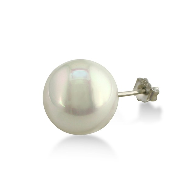 12mm Shell Pearl Stud Earrings