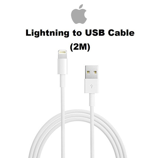 Apple 2M Original Lightning To USB Cable For iPhone, iPad, or iPod