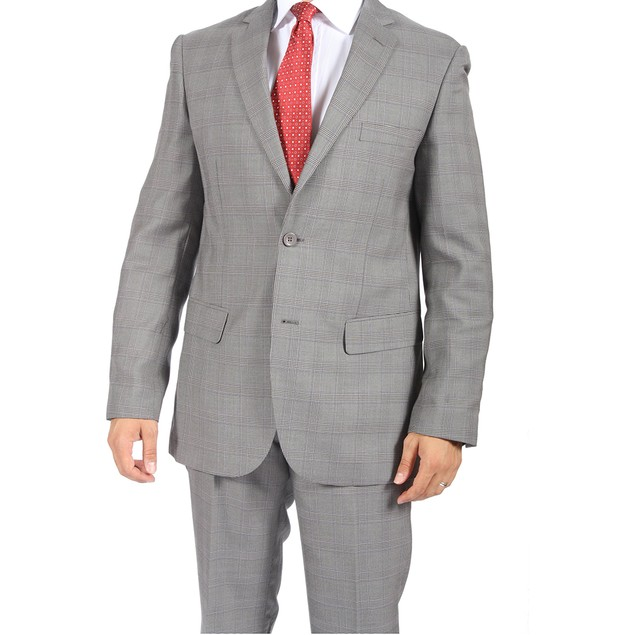 Charlie Light Grey Checkered Suit