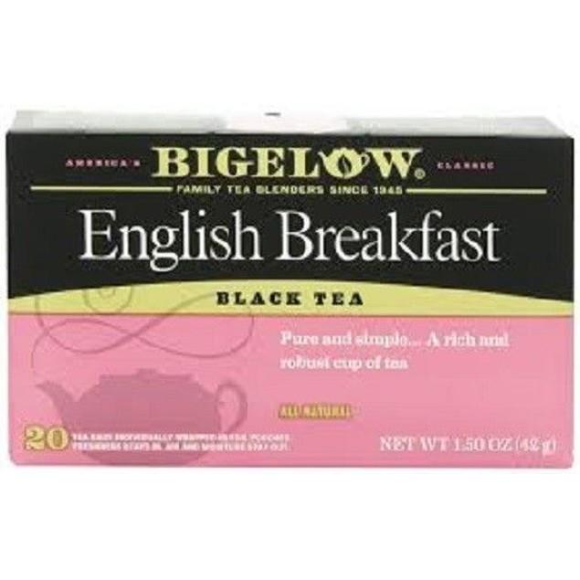 Bigelow English Breakfast Black Tea 20 Tea Bag Box