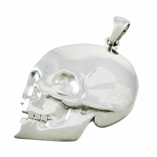 Silvertone Skull Pendant Pendants
