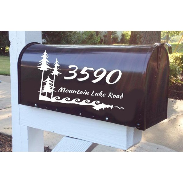 Personalized I Love the Outdoors Mailbox Decal