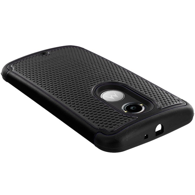 Motorola Moto X (2014) Hybrid Rugged Armor Protector Hard Case Cover