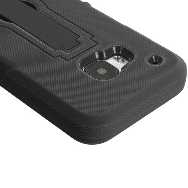 HTC One M9 Hybrid Heavy Duty Armor Case Cover with Stand
