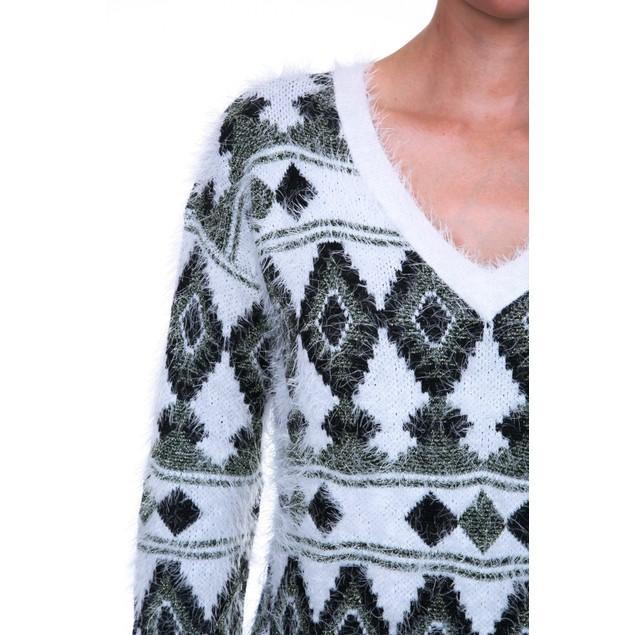 Argyle Print Sweater - 4 Colors