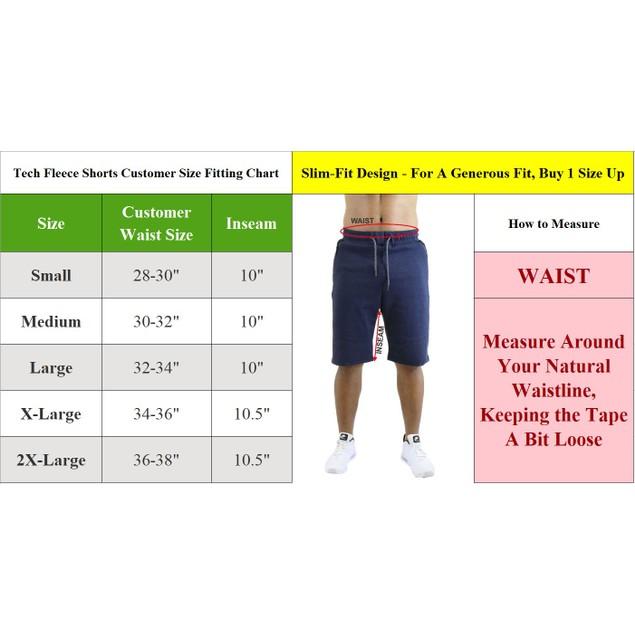 Men's Tech Fleece Shorts With Waterproof Zipper Pockets