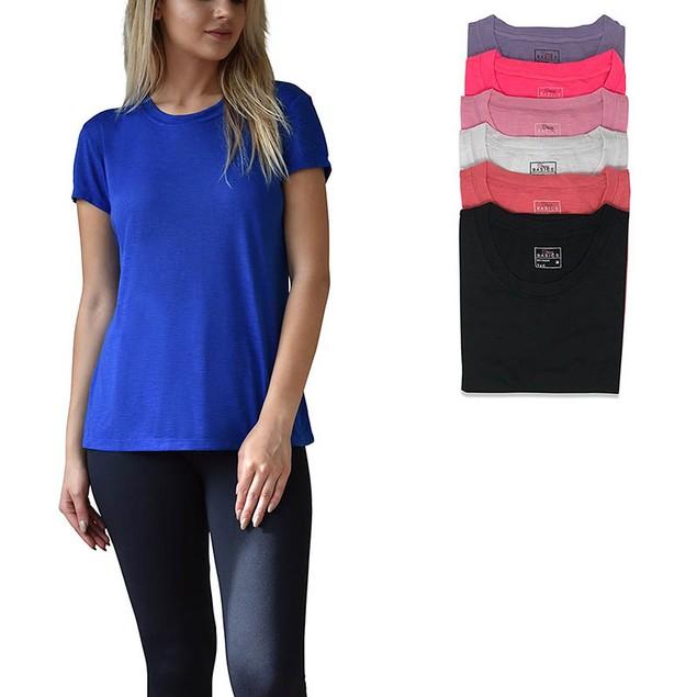 6-Pack Women's Active Basics Burnout T-Shirt