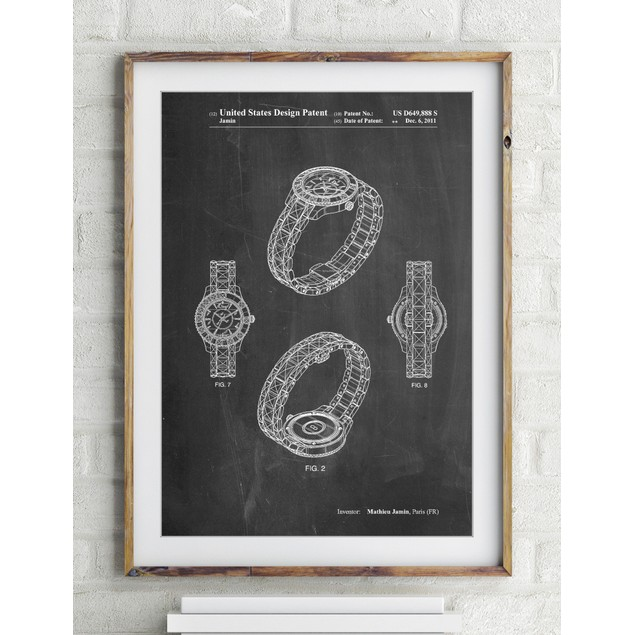 Luxury Watch Patent Poster