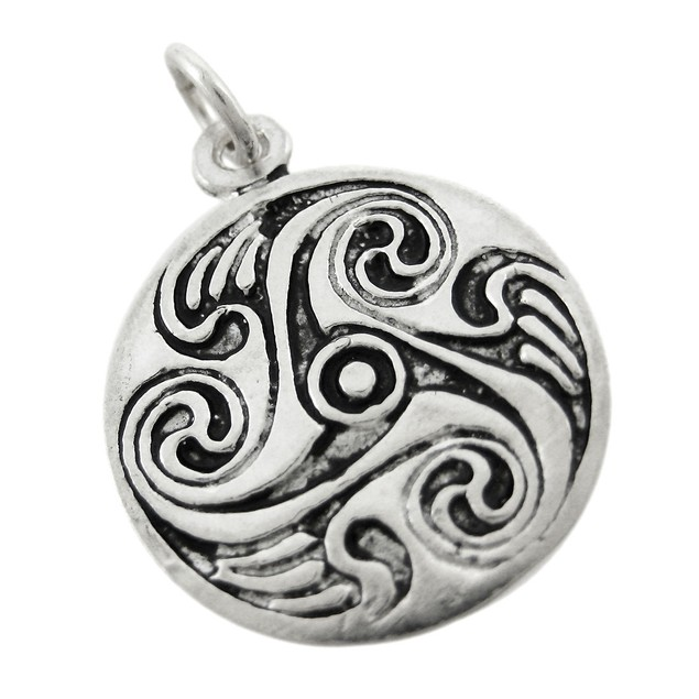 Solid Sterling Silver Celtic Circle Of Brighid Womens Individual Pendants