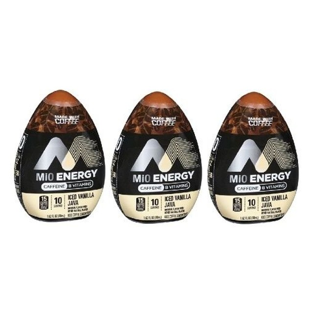 MiO Energy Iced Vanilla Java Iced Coffee Concentrate 3 Bottle Pack