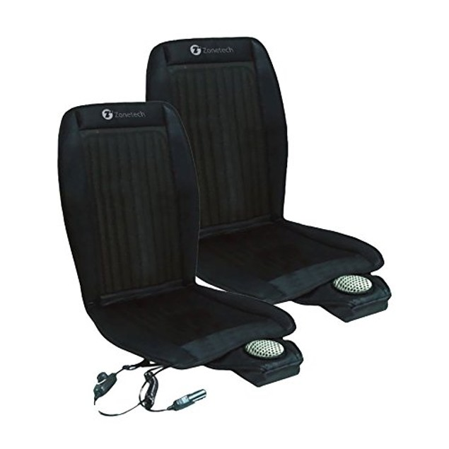 Zone Tech 2x Cooling Car Seat Cushion Cooler 12V Adjustable Temperature