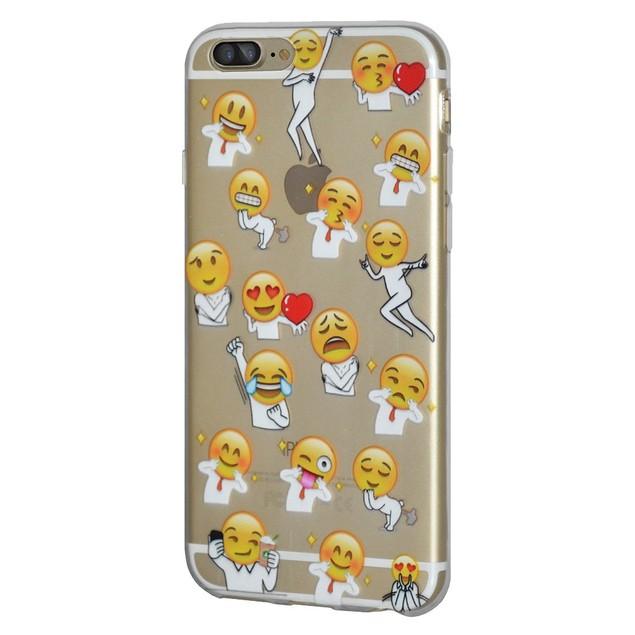 Soft Gel Graphic Emoji TPU Skin Case for iPhone 7 Plus - Different Emotions
