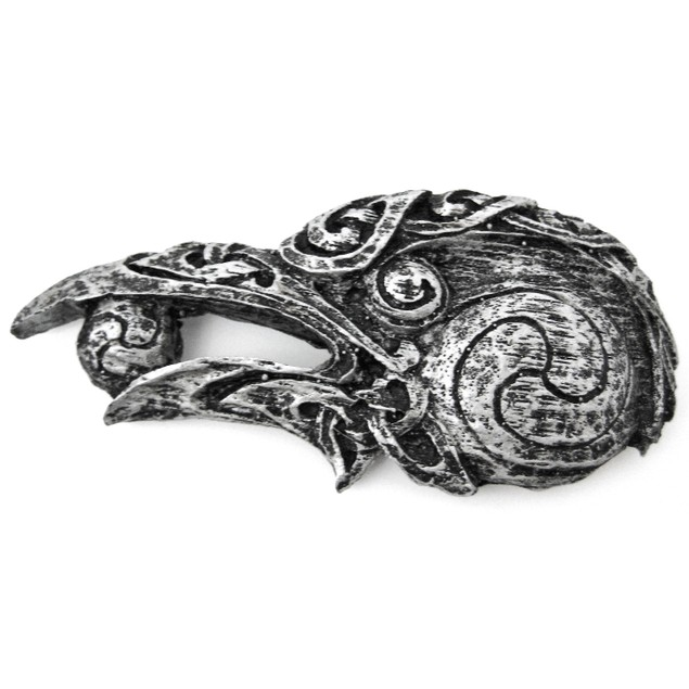Small Celtic Raven Head Wall Plaque Hanging Decorative Plaques