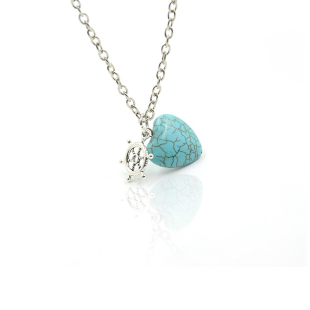 Love Sail Turquoise Necklace