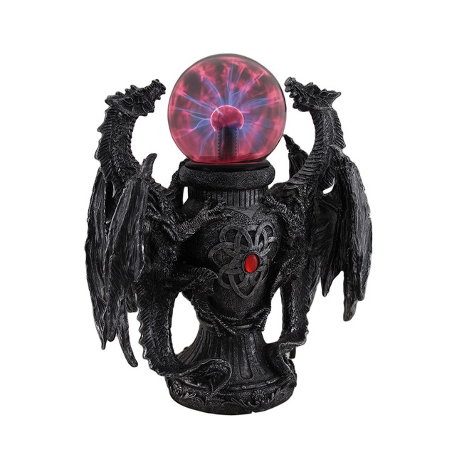 Twin Guardian Dragons Statue Saurian Plasma Gazing Statues