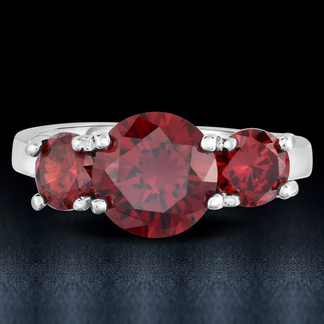 3cttw Essential Round 3 Stone Rings - 3 Colors