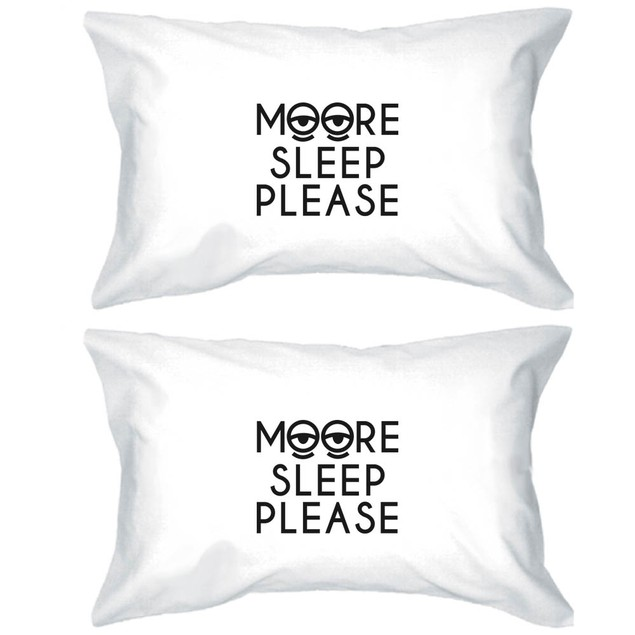 Moore Sleep Funny Pillowcases