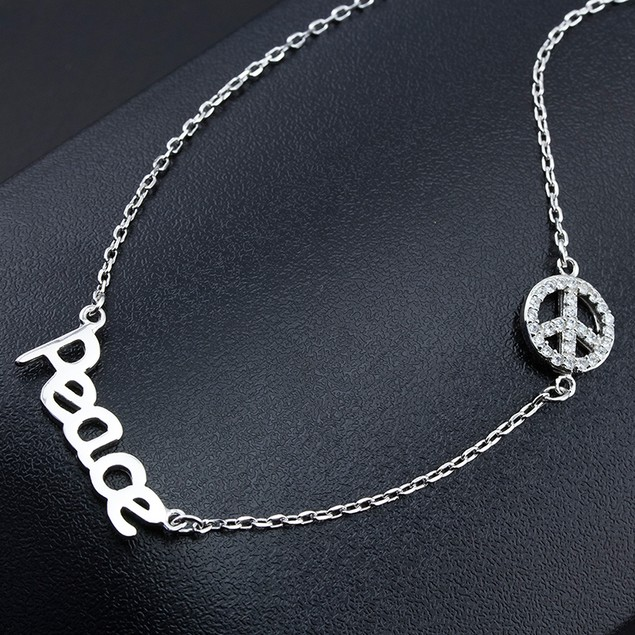 Sterling Silver Cubic Zirconia Inspirational Necklace