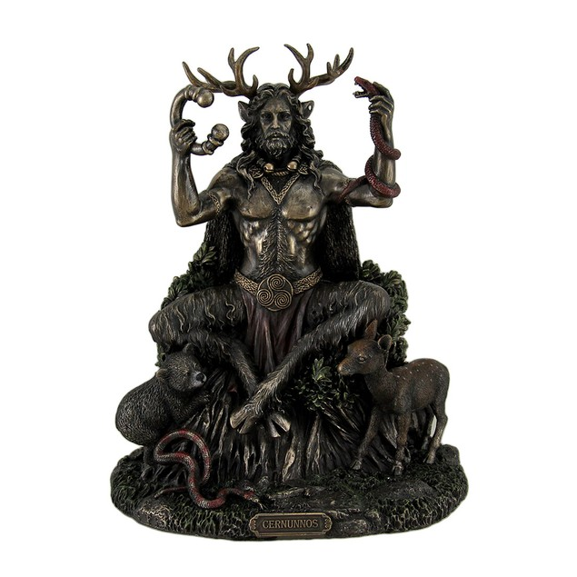 Cernunnos Celtic Horned God Of Animals And The Statues