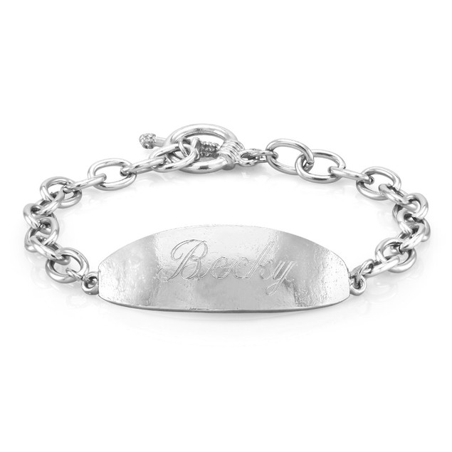 Personalized Oval Bar Bracelet with Free Gift!