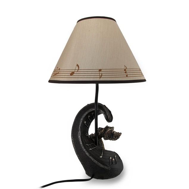 Musical Luminaries Classical Music Violin 20 Inch Table Lamps