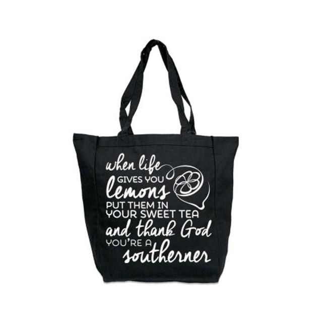 When Life Gives You Lemons Black Tote Bag