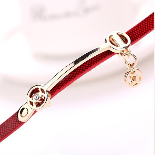 Rose Gold Charm Wrap Watch - Choose Color