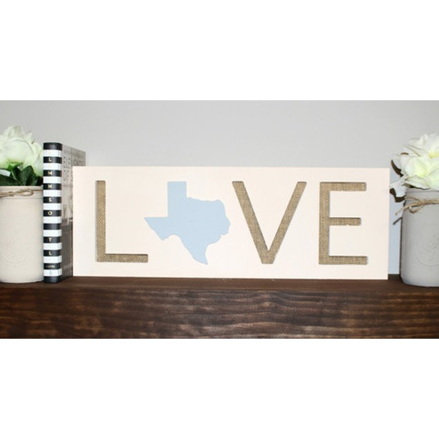 State Love Plaque Sign - Choose Your State!