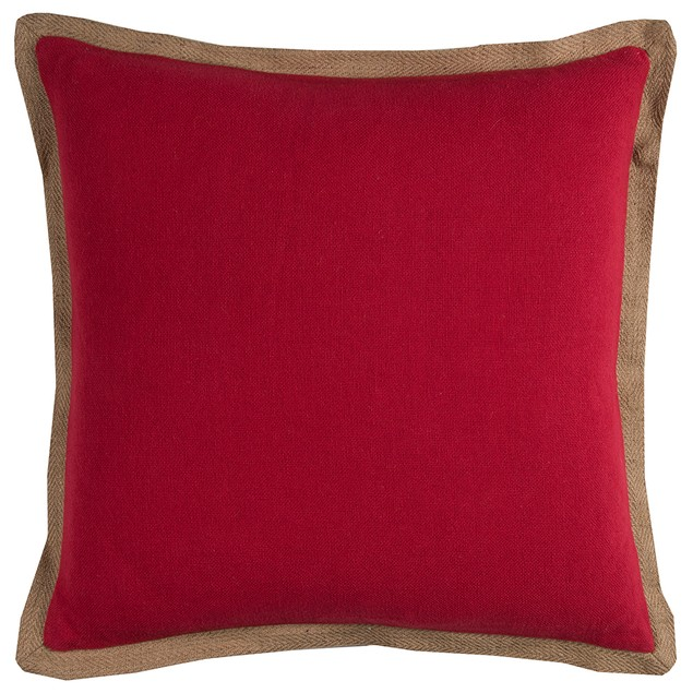 """Rizzy Home T11027  22"""" X 22"""" Throw Pillow With Throw Pillows"""
